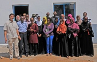 Patrick Louisy and Djibouti University students
