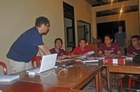 Dive guides briefing