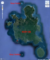 Image satellite de Nosy Be